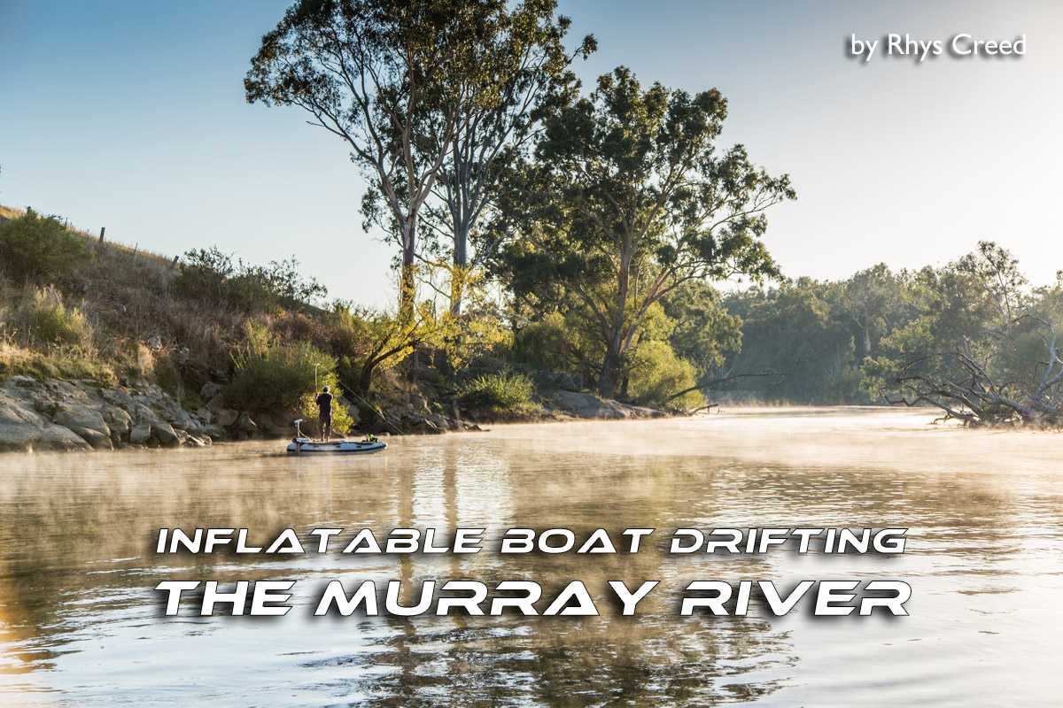 Inflatable Boat Drifting the Murray River